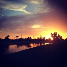 This incredible sunset photo was captured by Instagram user @Sally Colwell at Western Skies Golf Course in #GilbertAZ.