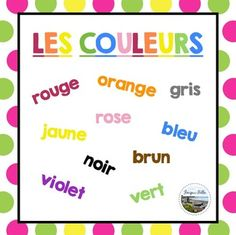 Free Beginner French Colours Reference Page (With 2 Bonus Weather Pages)