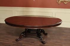 Large Round Dining Table Extra Large 84 Round Mahogany Dining Table, American Made Large Round Dining Table, Mahogany Dining Table, American Made, Furniture, Home Decor, Decoration Home, Room Decor, Home Furnishings, Home Interior Design