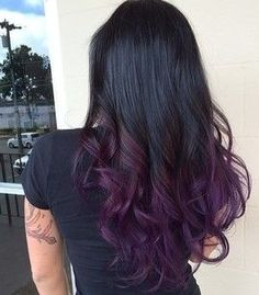 #purple #ombre #brunette