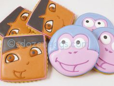 Dora and Boots cookies