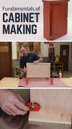 Woodworking 101 Master cabinet making, and you open the door to many projects; cabinets for your shop or kitchen, bathroom vanities, book cases, dressers and more. The construction methods used on all of these projects are very similar. Woodworking Classes, Popular Woodworking, Woodworking Jigs, Woodworking Furniture, Diy Furniture, Woodworking Projects, Woodworking Patterns, Woodworking Techniques, Building Furniture