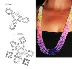 spiral with loops, Schema.  #Seed #Bead #Tutorials