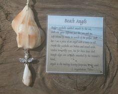 Angel Ornament Seashell Angel Beach by AngelHeartCreations on Etsy