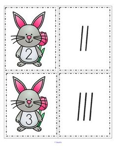 ***FREE***   This is a set of Spring Bunny cards, numbered from 0-20, and a set of tally marks, from 0-20. Use to match the sets; as flash cards; for number or tally marks sequencing. 12 pages.