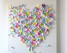 XL 3D Butterfly Statement Wall Art-Light Pink Ombre by RonandNoy