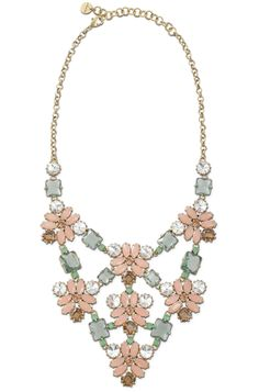 The Fleurette Statement Necklace from Stella & Dot is a great piece to add to your purple top or dress.