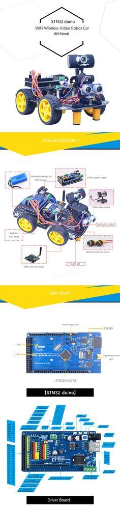 Xiao R STM32 duino Smart Robot Wifi Video Control Car Kit With PTZ Rc Robot, Smart Robot, Kit Cars, Wifi, Hobbies