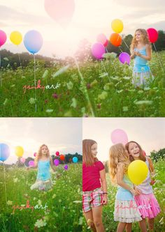i love how the balloons are randomly placed among the field...a diff take