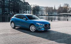 Lataa kuva Mazda 3, 2017, Farmari, Sininen Mazda, japanilaiset autot