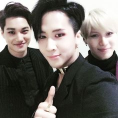 VIXX Ravi, EXO Kai, and SHINee Taemin