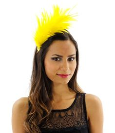 Swanky Celebration Feather Fascinator Cocktail Hat with Headband Hat Colors: Yellow Hat Size: One Size Greatlookz http://www.amazon.com/dp/B00F01K2LG/ref=cm_sw_r_pi_dp_k9Xewb0WS826F