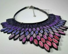Purple Rain art necklace leather handmade necklace by MammaMiaArt