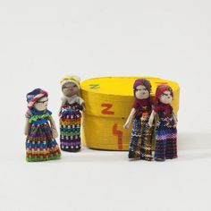 I've had a bunch of these for years from my trip to Guatemala, never knew they were called worry dolls - given to children to help them sleep at night. Leave it to World Market!