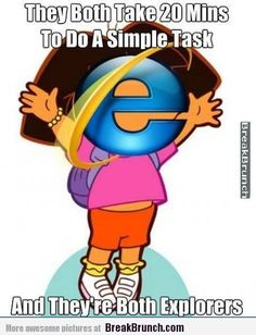 Dora the explorer and the Internet Explorer