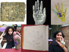 Acercando a los niños a la comprensión del trabajo de artistas como Tatiana Percero y su relación con otro sistema simbólico para experimentar la experiencia propia de contar una historia en su cuerpo.