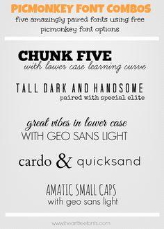 Fantastic & Free Picmonkey Font Combinations