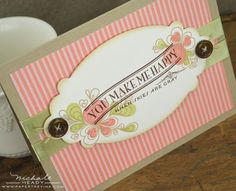 You Make Me Happy Card by Nichole Heady for Papertrey Ink (December 2012)