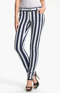Alice + Olivia Stripe Skinny Jeans available at Nordstrom $195