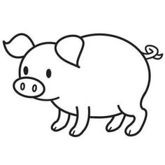 pig coloring page Coloring page Pinterest
