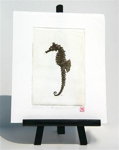 Seahorse  Original Etching by freshandsilly on Etsy, $25.00 Printing Press, Paper Size, Different Colors, Stamp, Colours, Watercolor, The Originals, Prints, Etsy