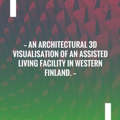 Wave hello to this awesome post! 👋 An architectural 3D visualisation of an assisted living facility in Western Finland. http://hotsnow.fi/an-architectural-3d-visualisation-of-an-assisted-living-facility-in-western-finland/?utm_campaign=crowdfire&utm_content=crowdfire&utm_medium=social&utm_source=pinterest