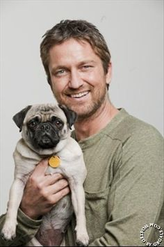 Gerard Butler photoshoot for Icon - Dick Lowery - February 2010 (with his little pug Lolita)