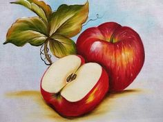 Food Painting, Pencil Drawings, Apple, Crochet, Plants, Pattern, Color, Colouring, Dish Towels