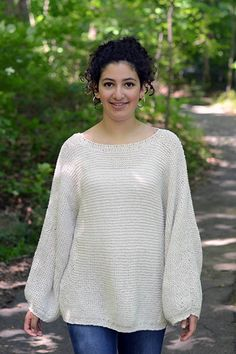 Billow Sweater Pattern free knitting pattern US 7 Needles