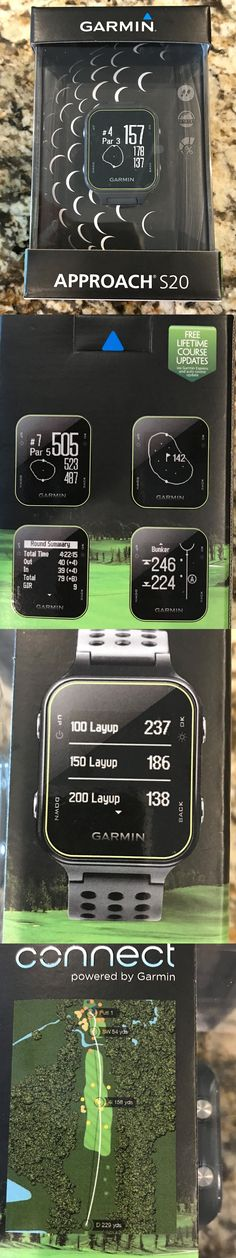 Rangefinders and Scopes 111289: Brand New Garmin Approach S20 Preloaded Golf Range Finder Gps Watch 2016 Black -> BUY IT NOW ONLY: $195 on eBay!