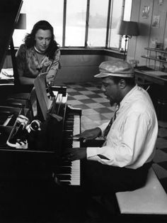 "PLAYING FOR A BARONESS… Thelonious Monk and Pannonica de Koenigswarter, 1964.   Photo by Moneta Sleet ""Thelonious Monk - Pannonica"""