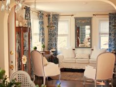 Living Rooms. Impressive French Country Living Room Concept Designs. Beige Living Room Color Schemes Featuring Classic French Country Living Room And Laminate Wood Floor Plus Blue Floral Curtains