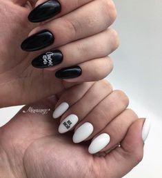 Ideas Holiday Nails Art Winter For 2019 Nail Art Designs, Simple Nail Designs, Nails Design, Nail Manicure, Diy Nails, Almond Nail Art, Almond Nails, Pin On, Super Nails