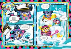 DPS Illustration for Furby 2014 annual