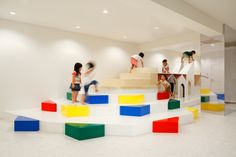 It is a interior of kindergarten which is specific for art education. The plan proposes a multi-purpose space to carry out regular nursery activities as well as special activities for both children and adults such as concerts, performances, exhibition