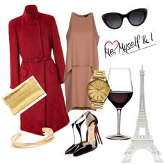 Paris by marketa-novotna-sedova on Polyvore featuring polyvore fashion style Theory Donna Karan Christian Louboutin Nancy Gonzalez Nixon Merci Gustave!