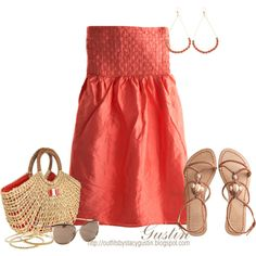"""""""summer dress"""" by stacy-gustin on Polyvore"""