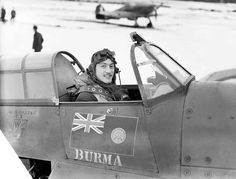 25 1941 Weather restricts raids on Britain. Squadron RAF, sitting in the cockpit of his Hawker Hurricane Mark I, V6864 'DT-A', at Coltishall, Norfolk, January 1941.. The Burmese flag is seen painted on the starboard side of the aircraft and on the port side were painted 2 - See more at: http://ww2today.com/25th-january-1941-weather-restricts-raids-on-britain#sthash.6wZxI6Al.dpuf