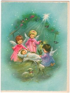 baby Jesus and angels
