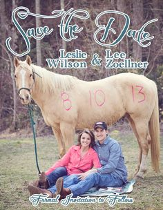 Yep. Just pinned this under funny because this is the worst save the date I've ever seen and I can't stop laughing. What's with the date on the horse? And don't get me started on the text/design.