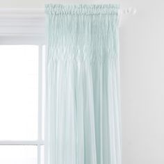 Pine Cone Hill Heirloom Voile Robin's Egg Blue Curtain Panel @LaylaGrayce