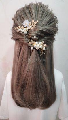 Student hairstyle idea - Frisuren - Tricot et Crochet Down Hairstyles, Braided Hairstyles, Wedding Hairstyles, Hairstyles Videos, Natural Hairstyles, Hair Upstyles, Wedding Hair Down, Vail Wedding, Wedding Braids