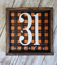 Your place to buy and sell all things handmade Halloween Wood Signs, Halloween Home Decor, Halloween Projects, Diy Halloween Decorations, Holidays Halloween, Happy Halloween Sign, Halloween Crafts, Fall Craft Fairs, Fall Crafts