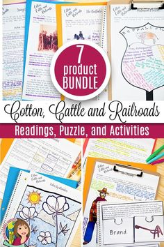 This bundle includes a variety of resources for the Cotton, Cattle and Railroads Era in Texas History. Informational text, video links and questions, primary source activities, color-by-number, and so much more!  You will receive resources on The Cotton Industry, The Buffalo Soldier, The Cowboy Way of Life, The Cattle Industry, The Railroads in Texas, and the Indian Wars.