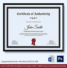 Blank certificate of authenticity for artists collectors certificate of authenticity template what information to include certificate of authenticity template yelopaper Choice Image