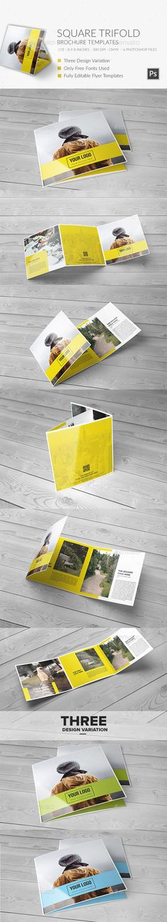 Square Trifold Brochure 2 - Brochures Print Templates