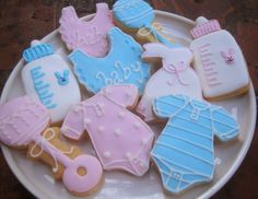 baby shower/ baptism sugar cookies - The Blue Cottage, Tagaytay