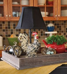 I love the rooster lamp!