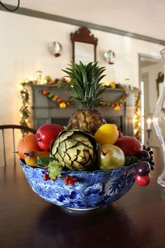 Williamsburg Christmas Fruit Centerpiece from Vintage American Home