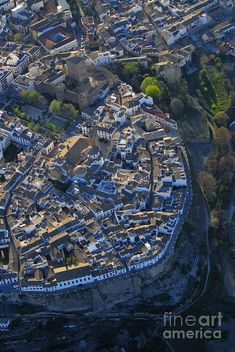 Priego De Cordoba Fort From The Air Photograph